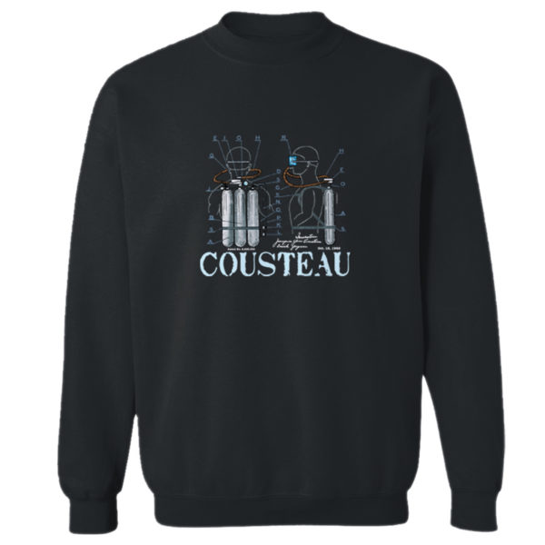 Cousteau Aqualung Crewneck Sweatshirt BLACK