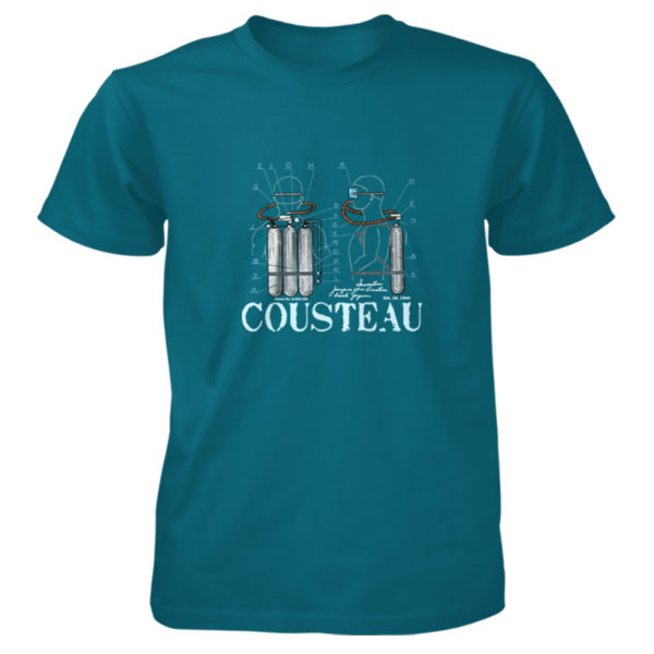 Cousteau Aqualung T-Shirt GALAPAGOS BLUE