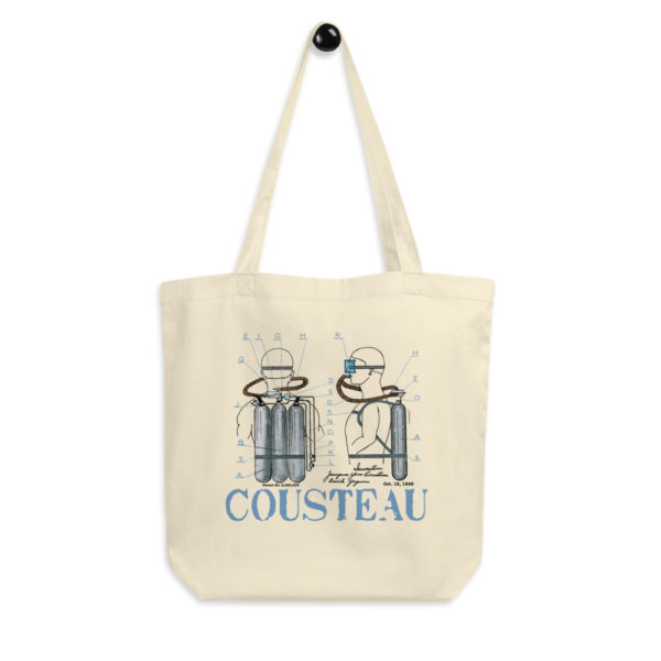 Cousteau Aqualung Tote Bag FRONT
