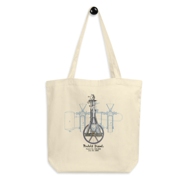 Diesel Engine Design Tote Bag FRONT