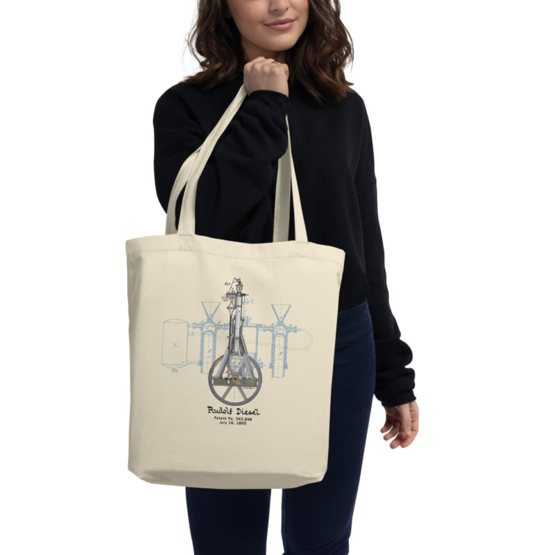 Diesel Engine Design Tote Bag