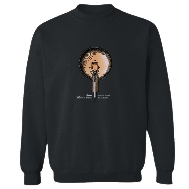 Edison Bulb Crewneck Sweatshirt BLACK