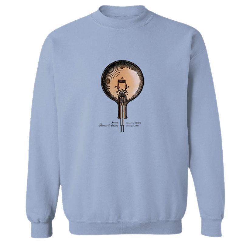 Edison Bulb Crewneck Sweatshirt LIGHT BLUE