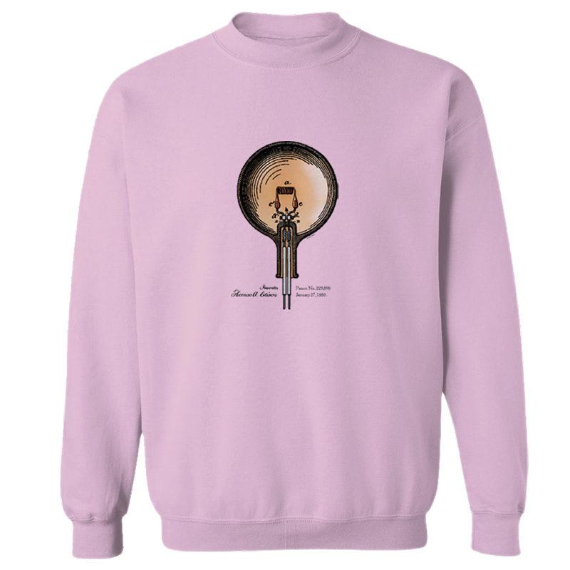 Edison Bulb Crewneck Sweatshirt LIGHT PINK