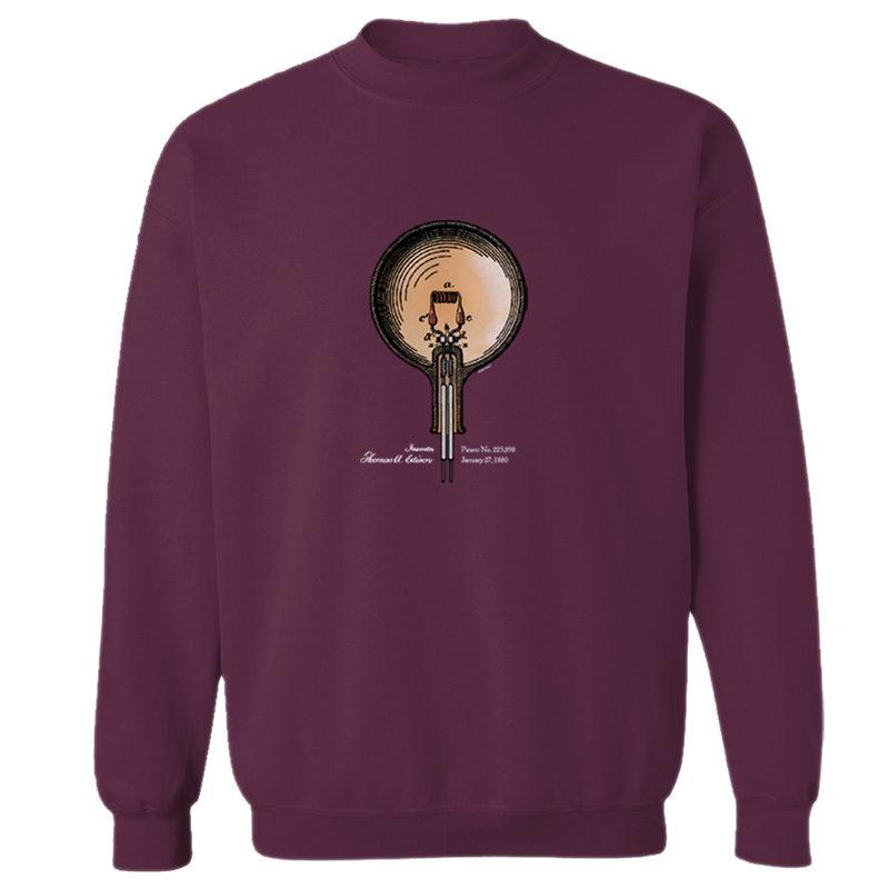 Edison Bulb Crewneck Sweatshirt MAROON