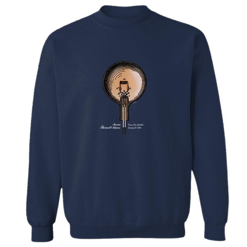 Edison Bulb Crewneck Sweatshirt NAVY