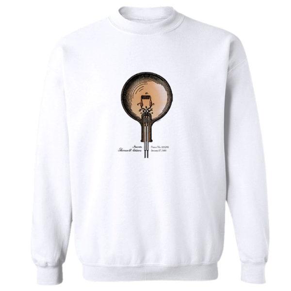 Edison Bulb Crewneck Sweatshirt WHITE