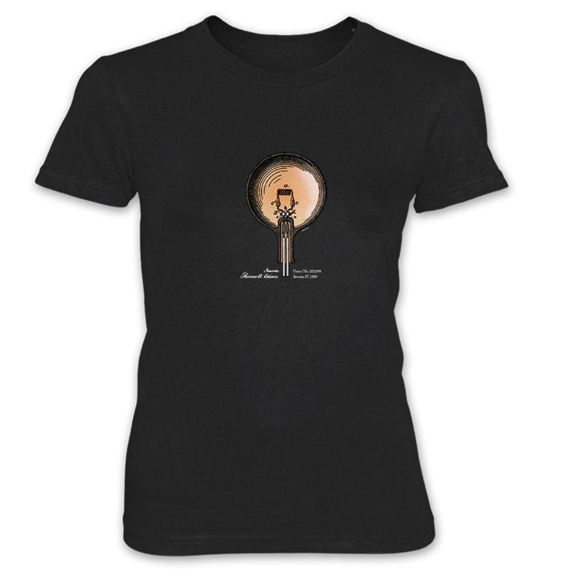 Edison Bulb Women's T-Shirt BLACK
