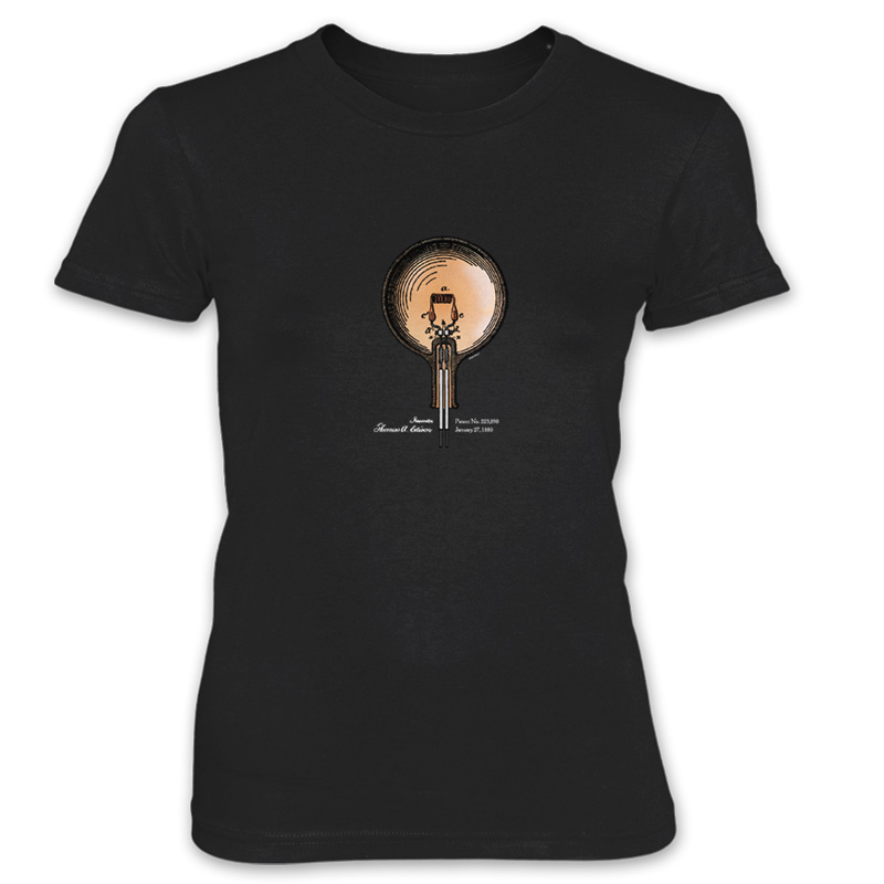Edison Bulb Women's T-Shirt BLACK