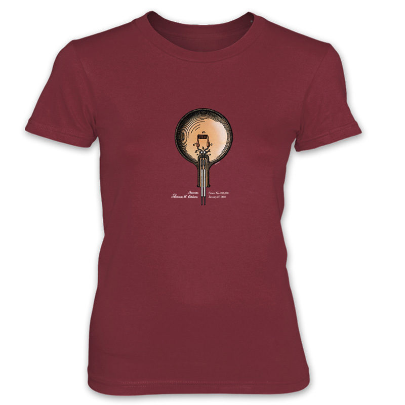 Edison Bulb Women's T-Shirt INDEPENDENCE RED