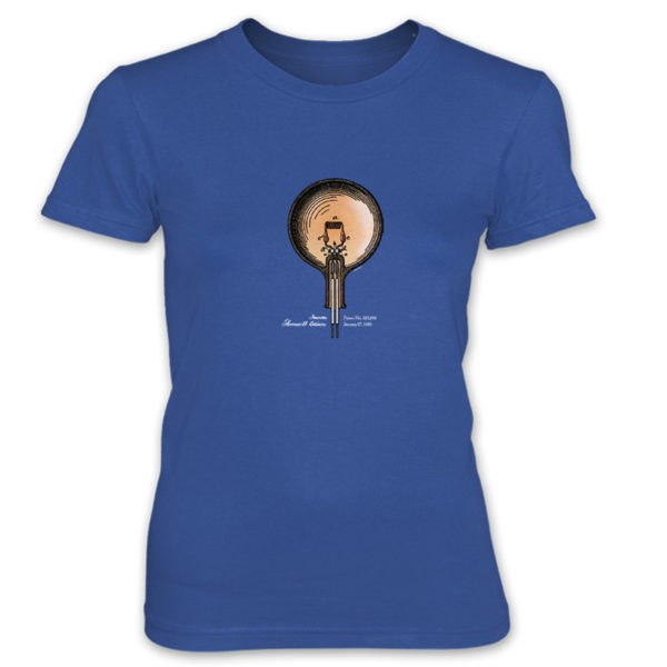 Edison Bulb Women's T-Shirt ROYAL BLUE