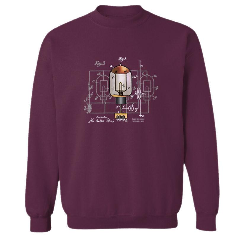 Fleming Vacuum Tube Crewneck Sweatshirt MAROON