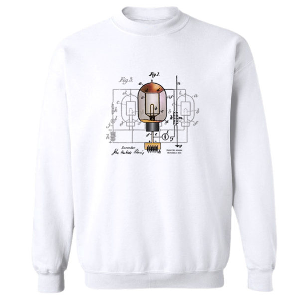 Fleming Vacuum Tube Crewneck Sweatshirt WHITE