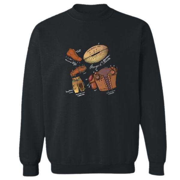 Football MS-Color Crewneck Sweatshirt BLACK