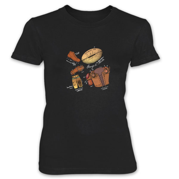 Football MS-Color Women's T-Shirt BLACK