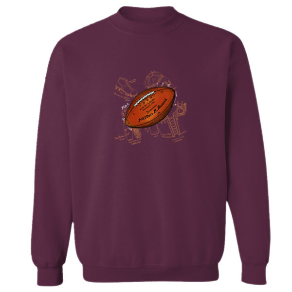 Football Solo Crewneck Sweatshirt MAROON