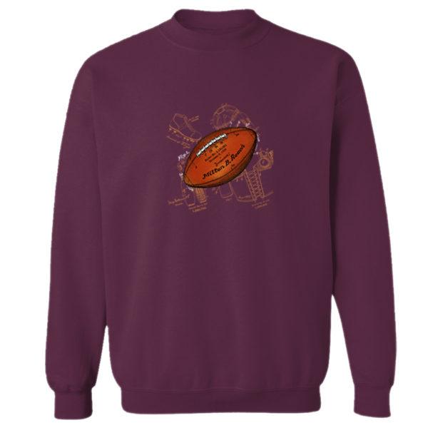 Football Solo Crewneck Sweatshirt MAROON