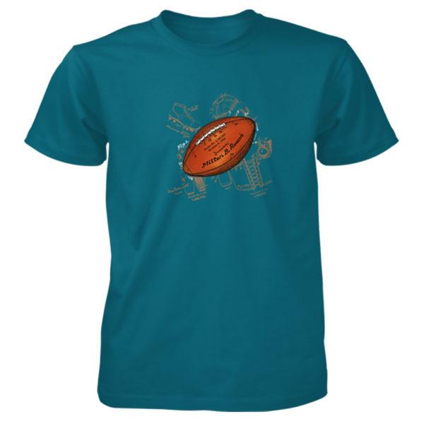 Football Solo T-Shirt GALAPAGOS BLUE