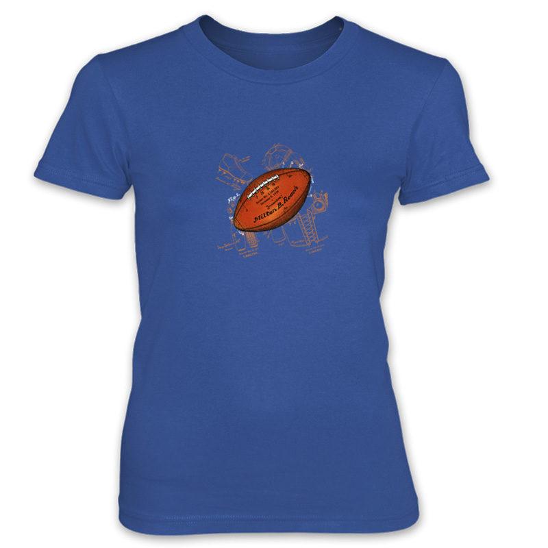 Football Solo Women's T-Shirt ROYAL BLUE