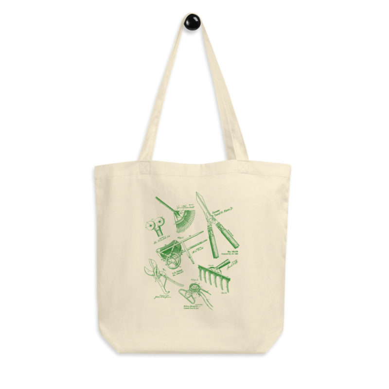 Garden Tools MS Lineart Tote Bag FRONT