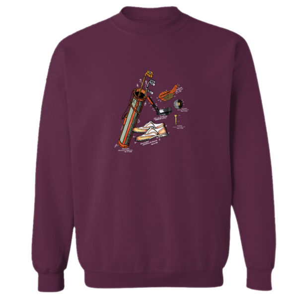Golf MS-Color Crewneck Sweatshirt MAROON