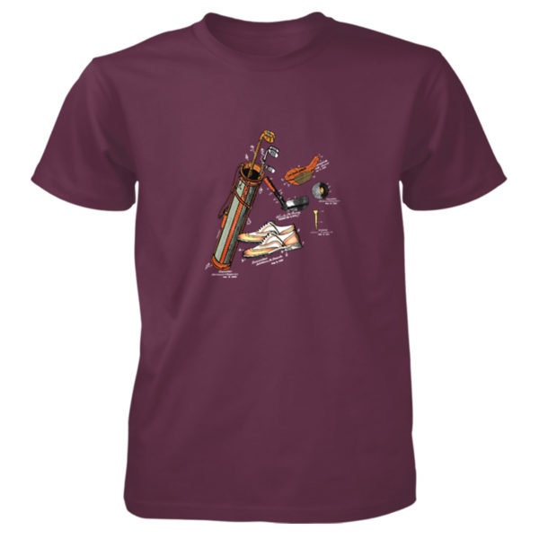Golf MS-Color T-Shirt MAROON