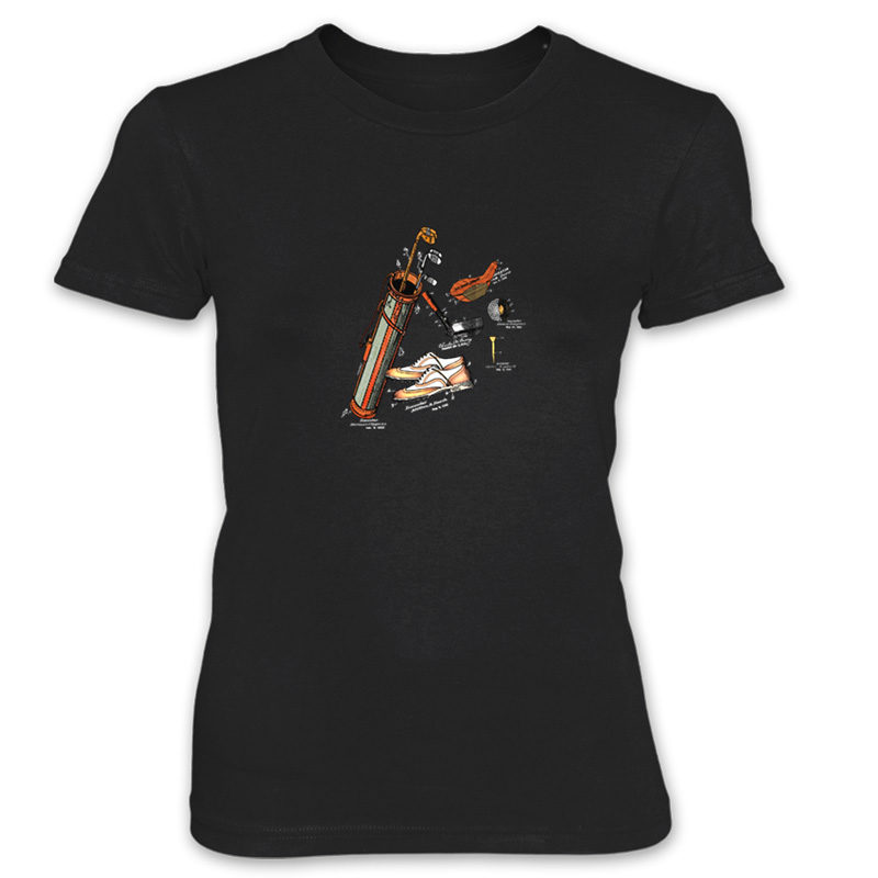 Golf MS-Color Women's T-Shirt BLACK