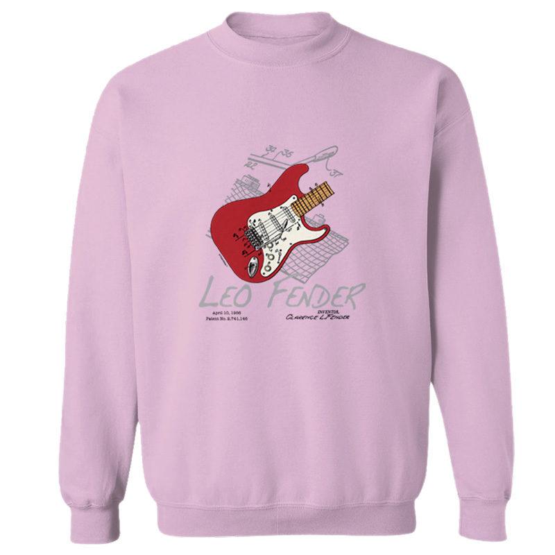 Guitar Solo Crewneck Sweatshirt LIGHT PINK