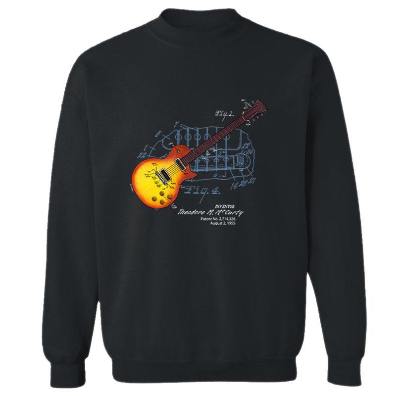 Sunburst Guitar Crewneck Sweatshirt BLACK