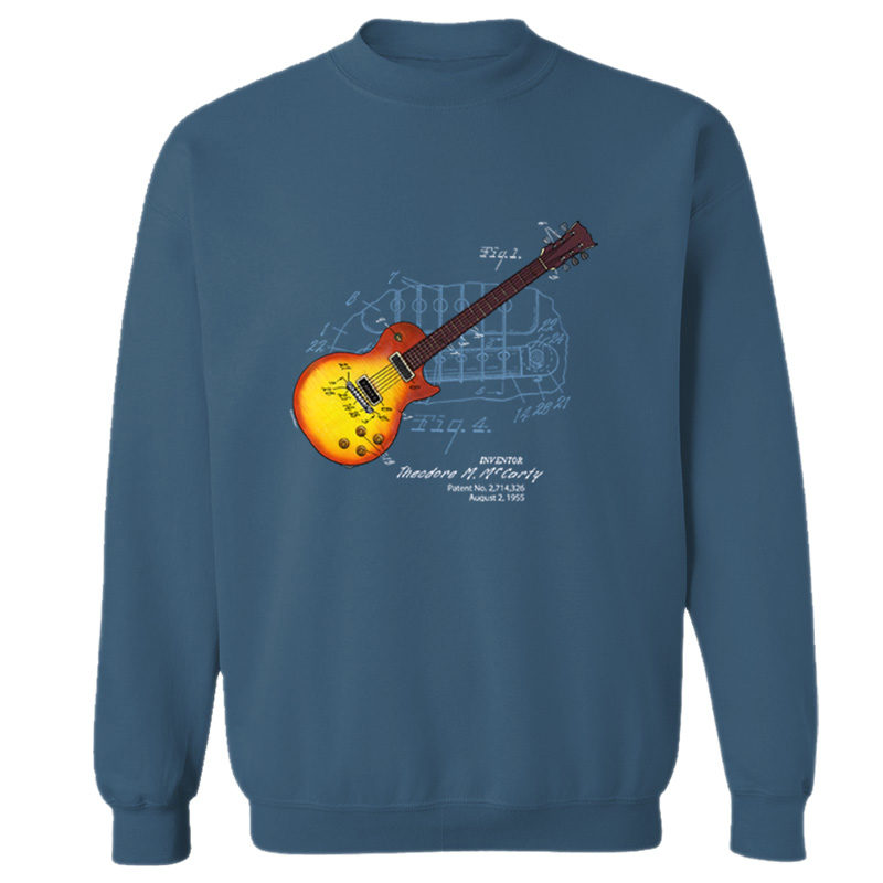 Sunburst Guitar Crewneck Sweatshirt INDIGO BLUE