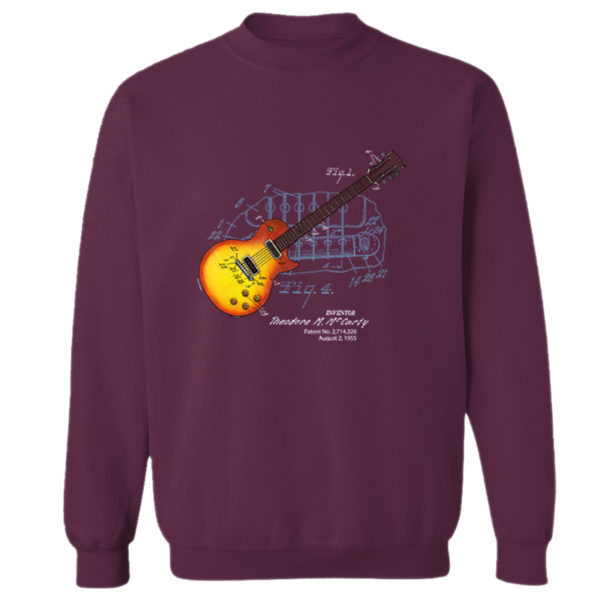 Sunburst Guitar Crewneck Sweatshirt MAROON