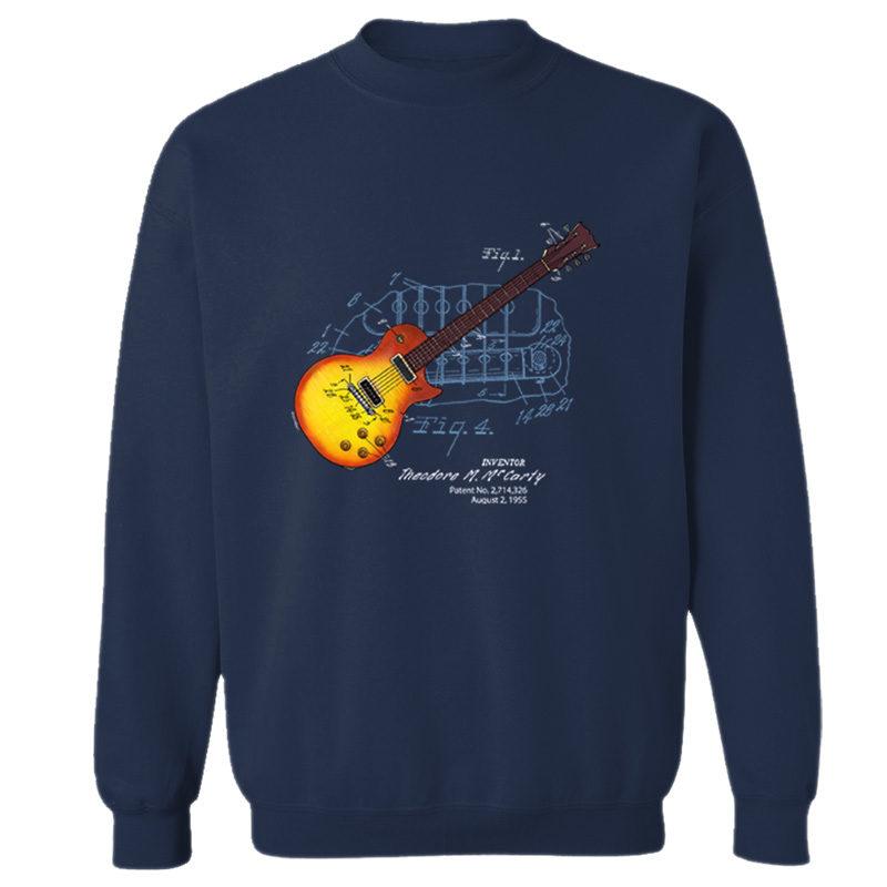 Sunburst Guitar Crewneck Sweatshirt NAVY
