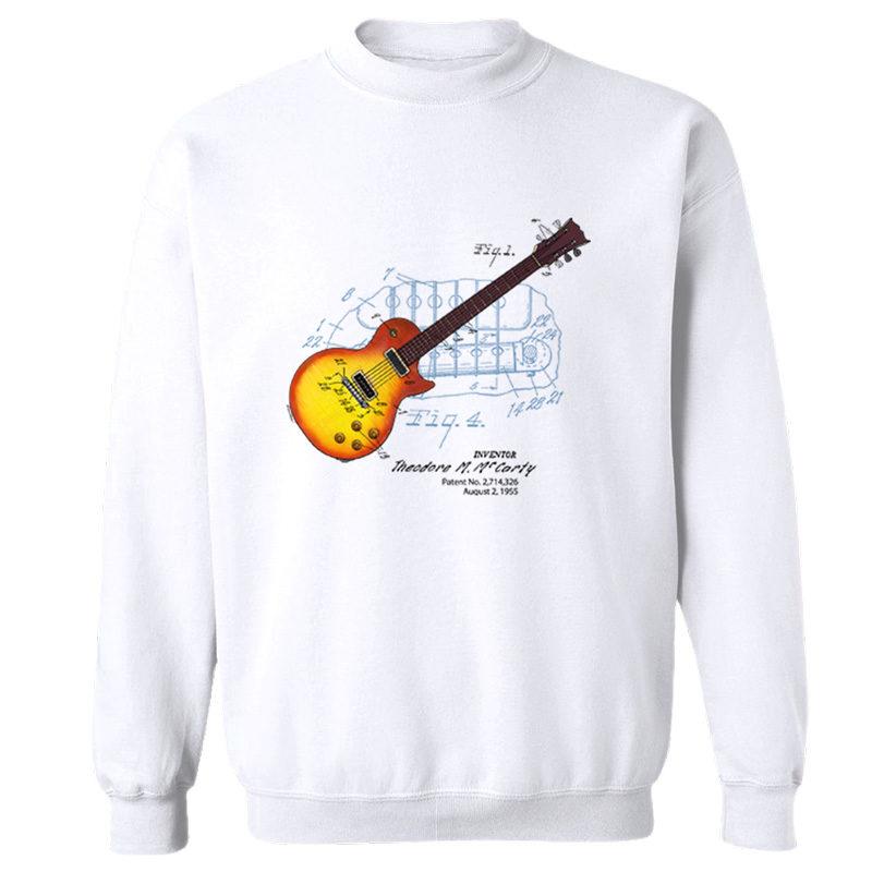 Sunburst Guitar Crewneck Sweatshirt WHITE
