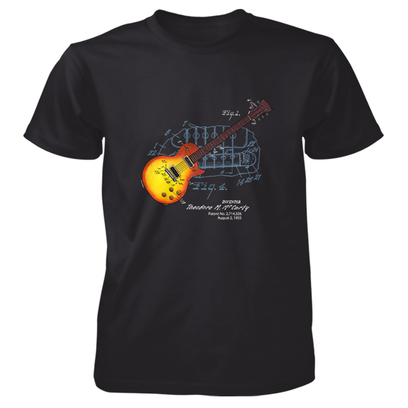 Sunburst guitar patent t shirt patentwear for How to patent a t shirt