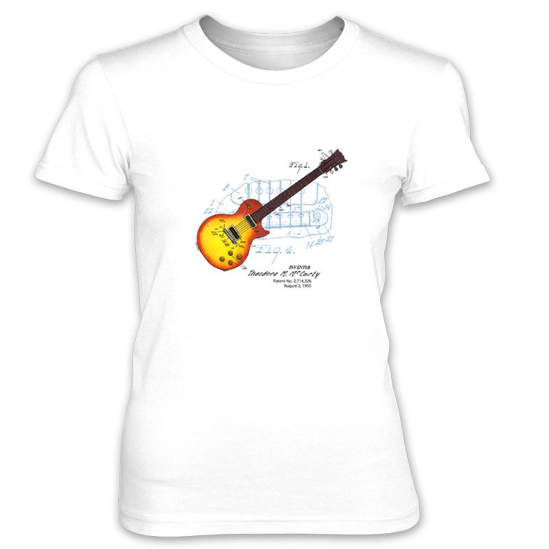 Sunburst Guitar Women's T-Shirt WHITE
