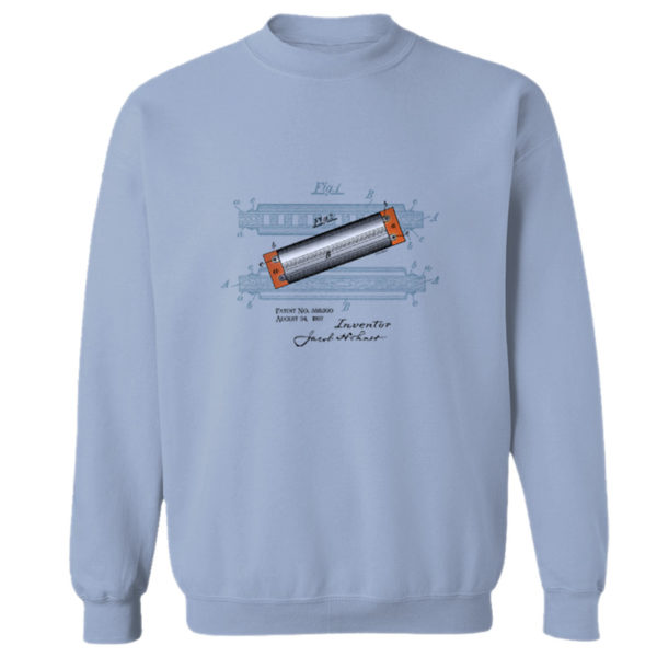 Harmonica Crewneck Sweatshirt LIGHT BLUE