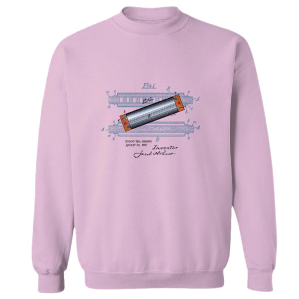 Harmonica Crewneck Sweatshirt LIGHT PINK