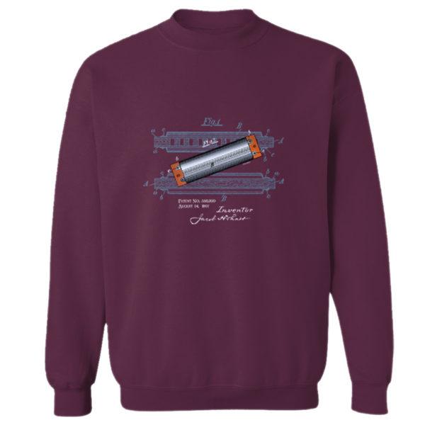 Harmonica Crewneck Sweatshirt MAROON