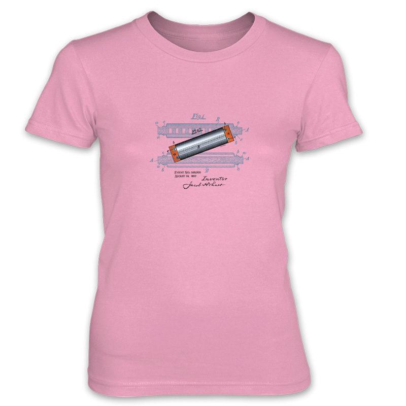 Harmonica Women's T-Shirt CHARITY PINK
