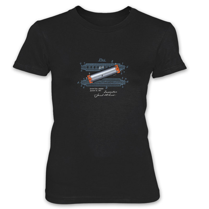 Harmonica Women's T-Shirt BLACK