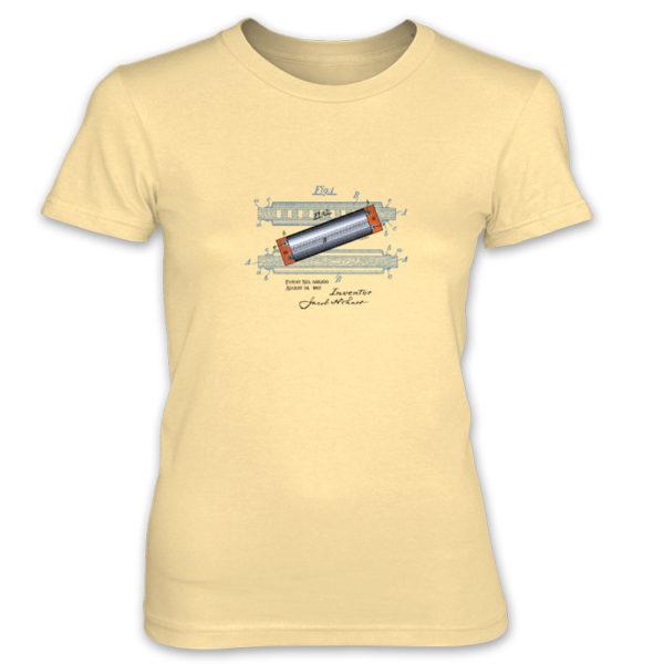 Harmonica Women's T-Shirt SPRING YELLOW