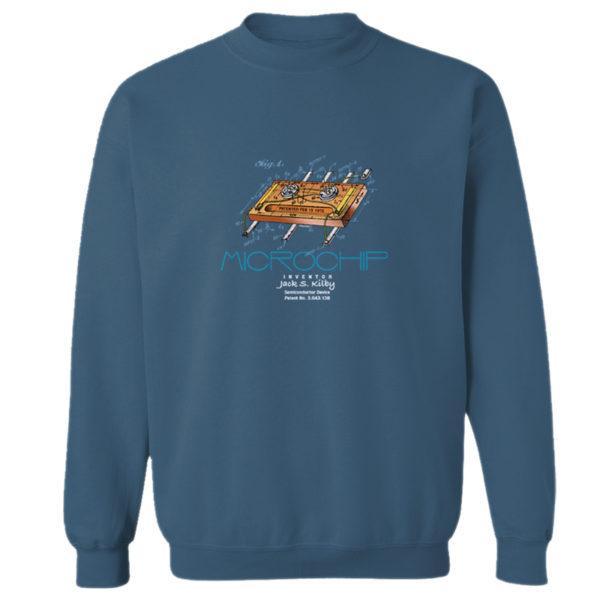 Microchip Crewneck Sweatshirt INDIGO BLUE