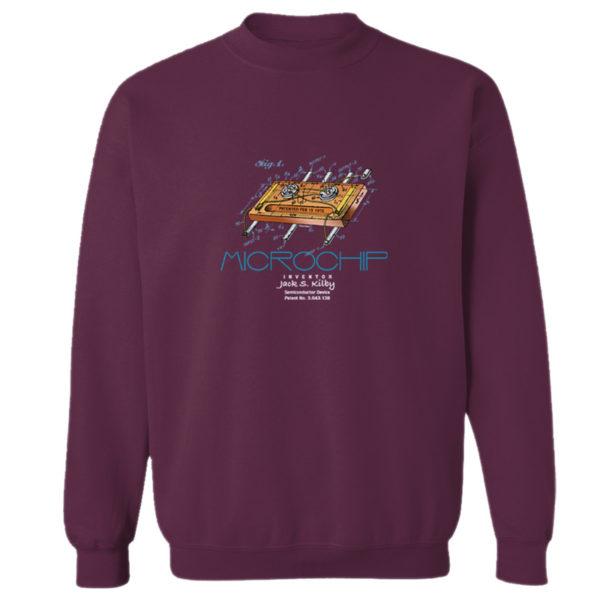 Microchip Crewneck Sweatshirt MAROON