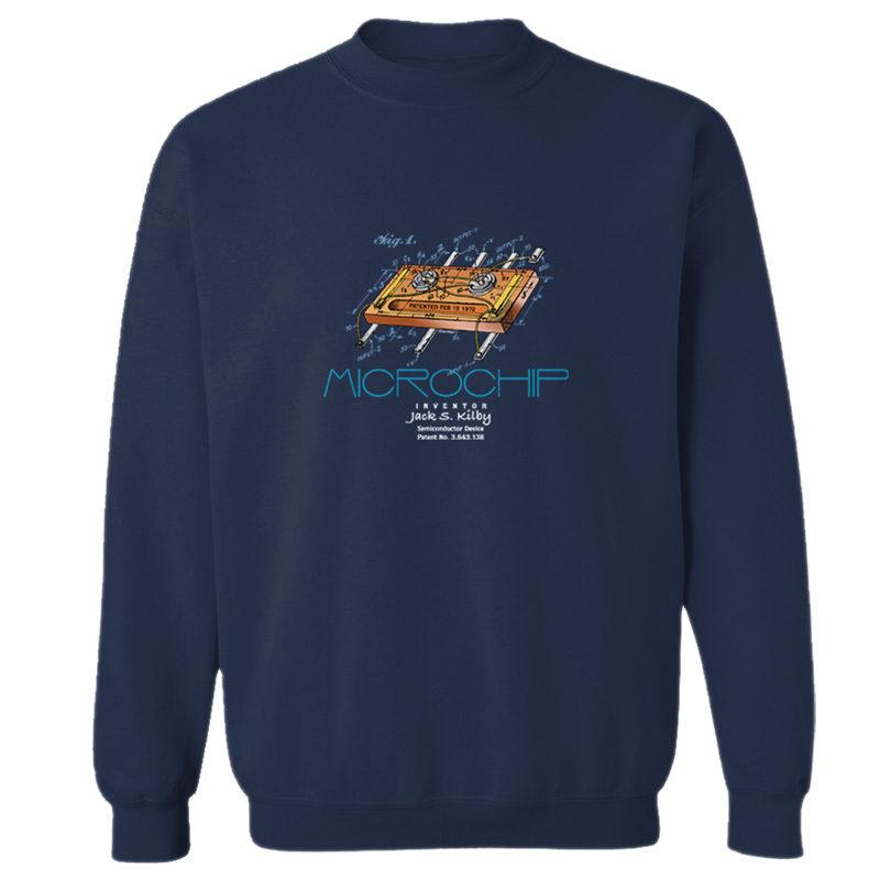Microchip Crewneck Sweatshirt NAVY