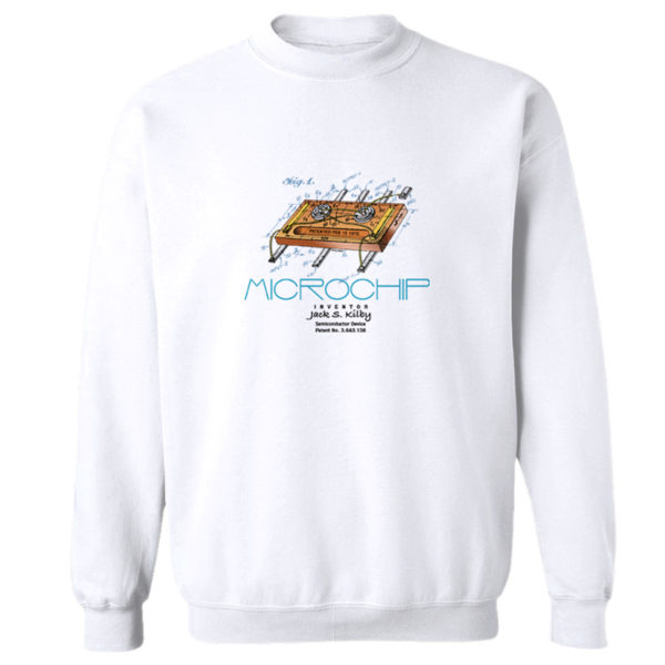 Microchip Crewneck Sweatshirt WHITE