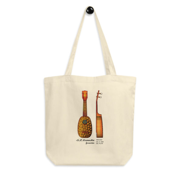 Pineapple Ukulele Tote Bag FRONT