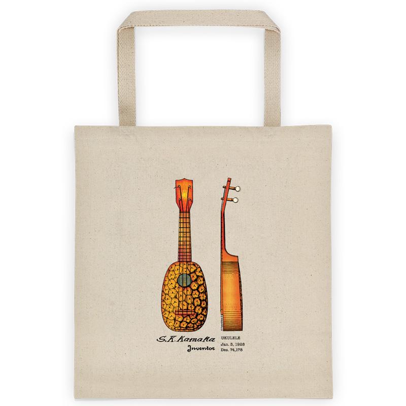Pineapple UkuleleTote Bag FRONT