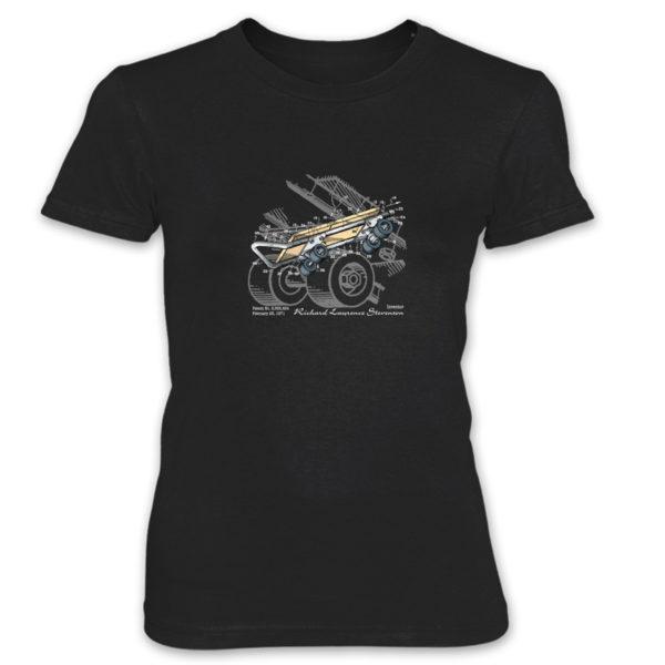 Skateboard Kicktail Women's T-Shirt BLACK