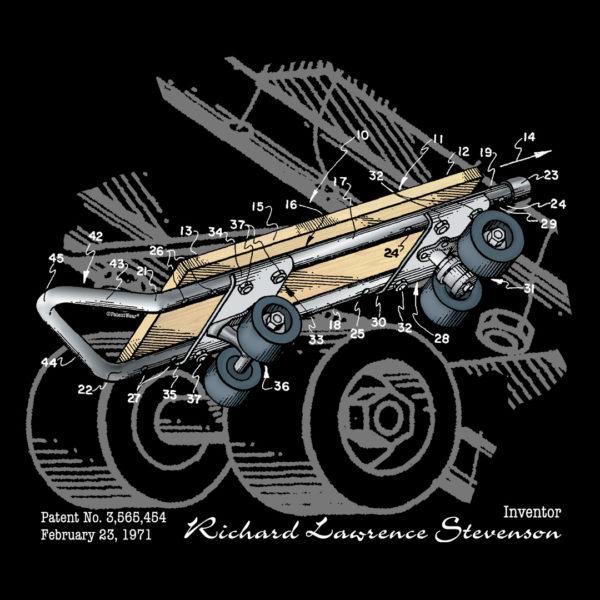 Skateboard Kicktail Design on Darks