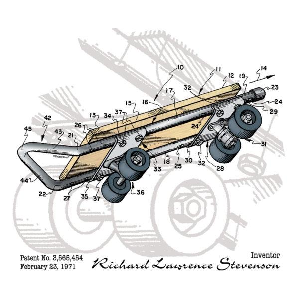 Skateboard Kicktail Design on Lights